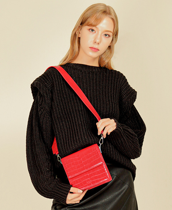 [록체] Claire Mini Bag Red
