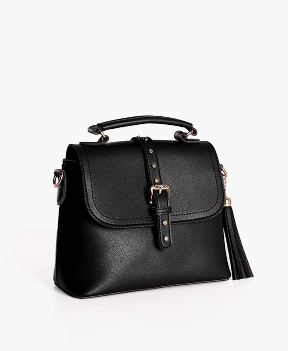 [뮤엘] Hepburn tote cross bag - Black