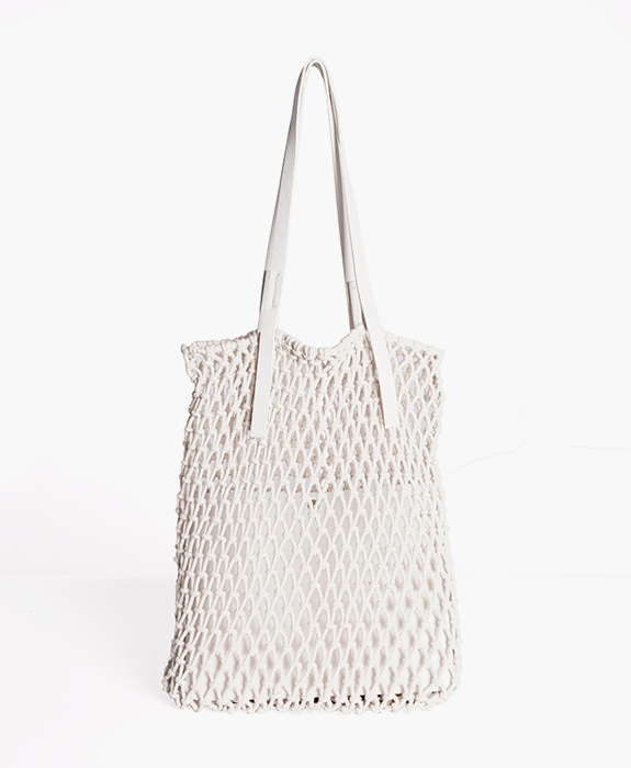 [뮤엘] Fogknit tote bag - White