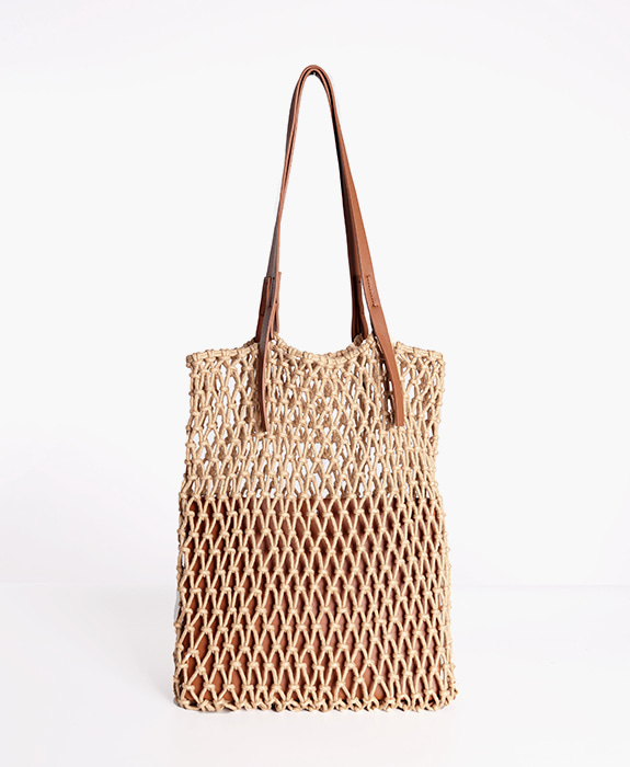 [뮤엘] Fogknit tote bag - Brown