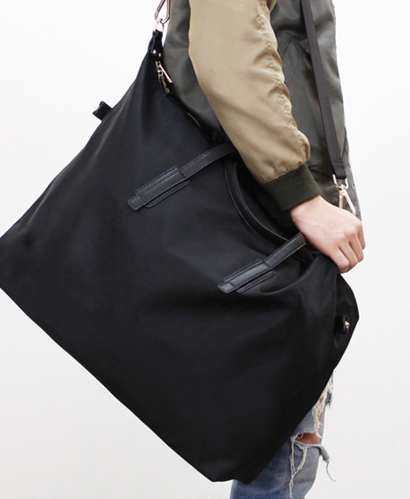 [뮤엘] Terry Boston Bag L - Black