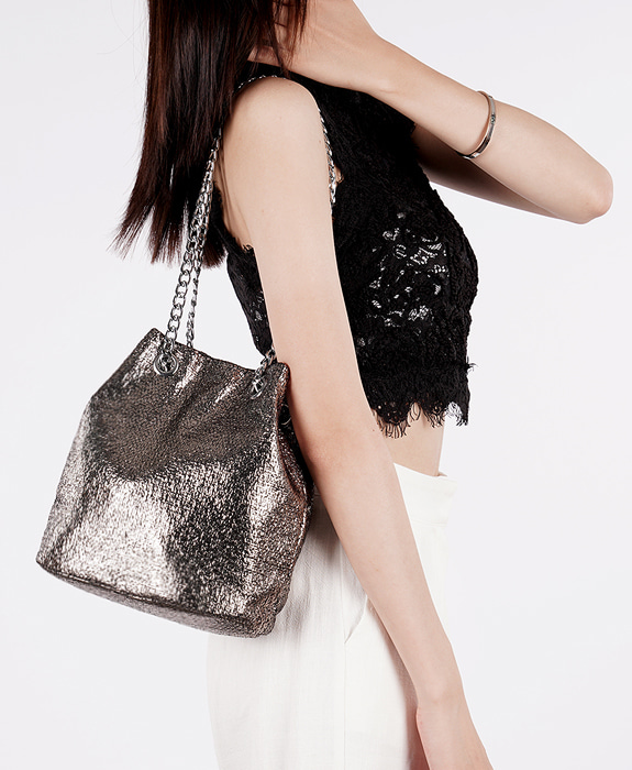 [뮤엘] Twinkle shoulder bag - Gray