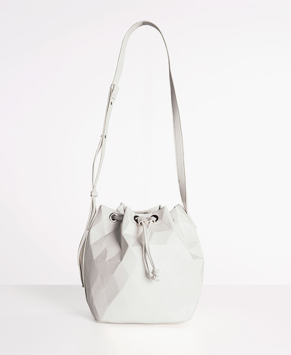 [뮤엘] Mosaic shoulder bag - White