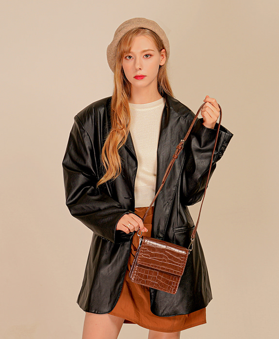 [록체] Claire Mini Bag Choco Brown