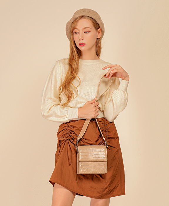 [록체] Claire Mini Bag Beige