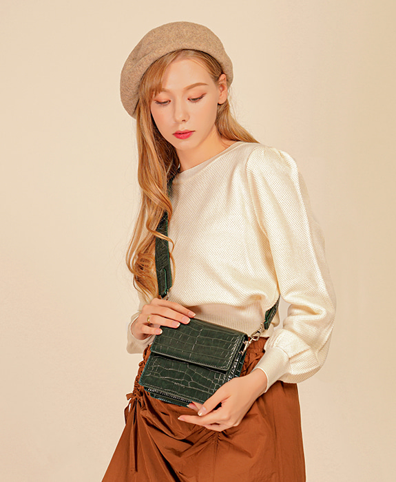 [록체] Claire Mini Bag Green