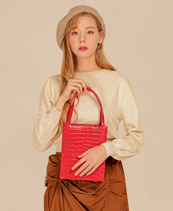 [록체] Lowell Tote Bag Red