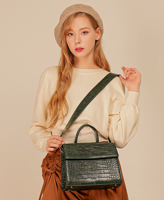 [록체] Bella Tote Bag Green