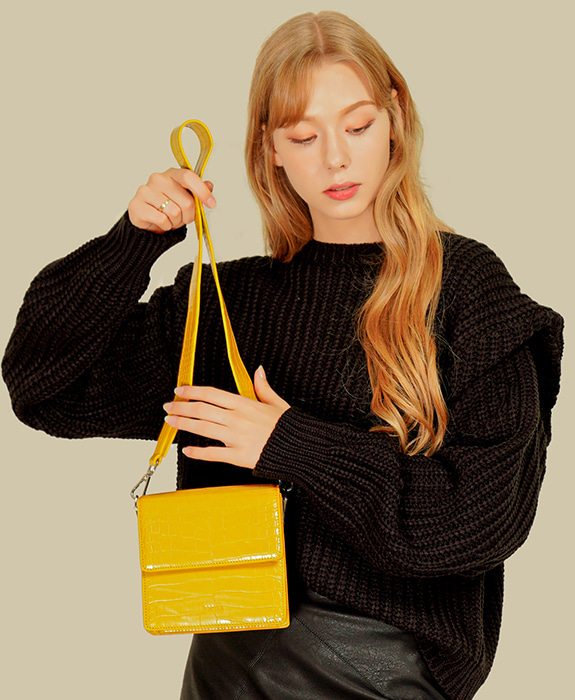 [록체] Claire Mini Bag Yellow
