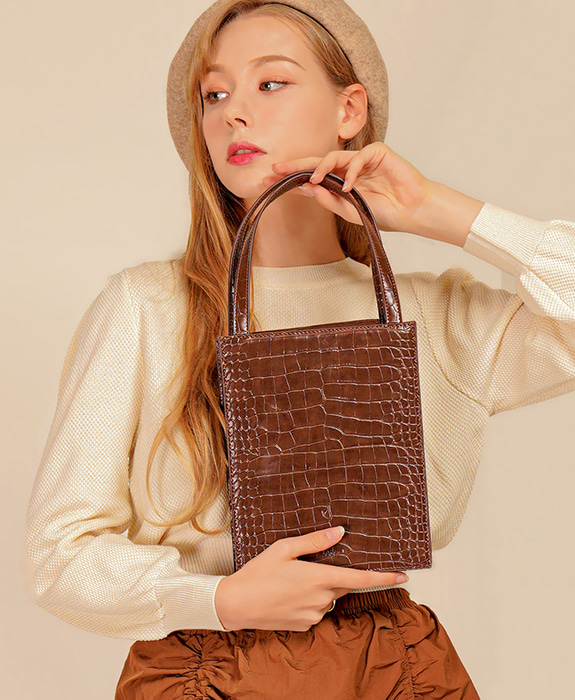 [록체] Lowell Tote Bag Choco Brown