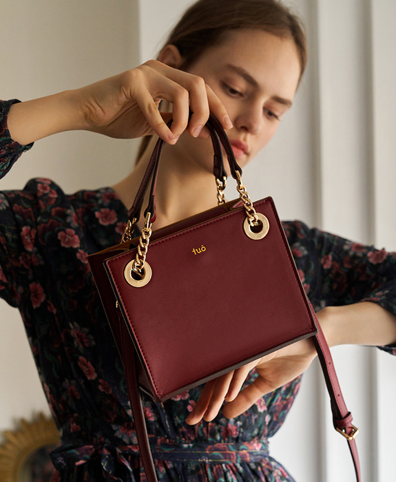 [투오] BIELLA MINI CROSS BAG_WINE