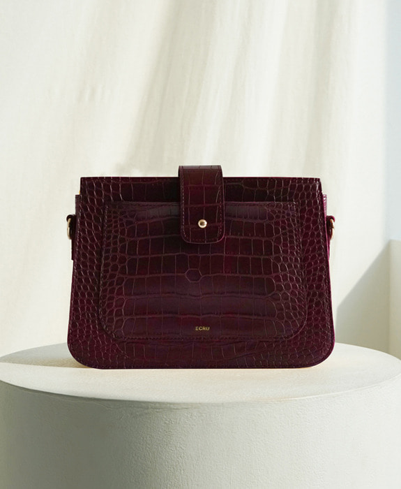 [에크루] Hoyu Crocodile Bag Burgundy