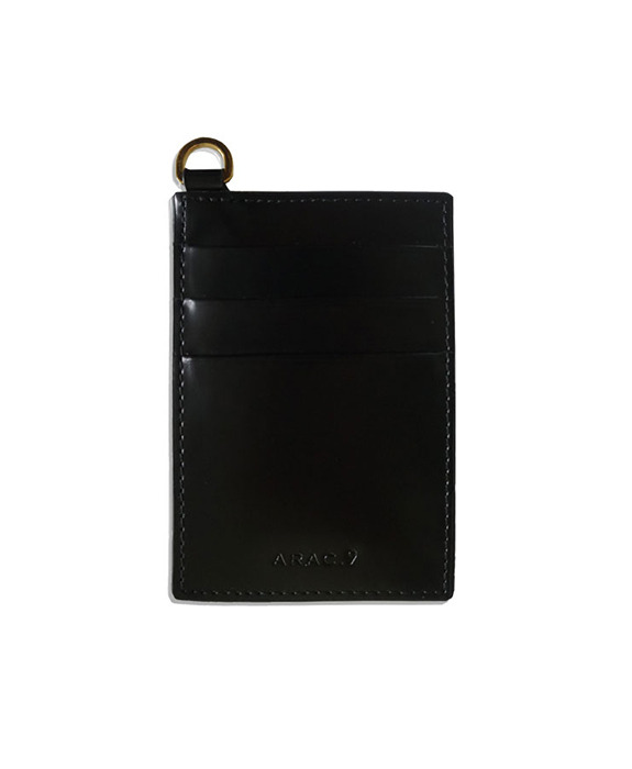 [아라크나인] flat card wallet - black